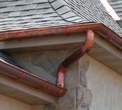 Berger copper gutter1 Round Down spout