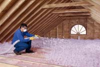Blow Roofing Insulation Installation