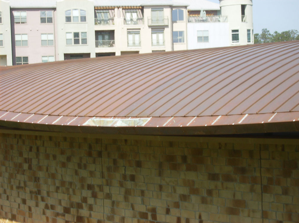 Copper standing seam brinkmann quality roofing services for Copper standing seam roof