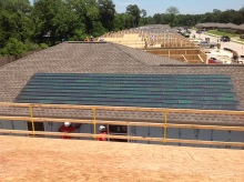 Habitat for Humanity Build Powerhouse 2.0kw installed on GAF Timberline High Definition Weathered Wood in Houston,Texas