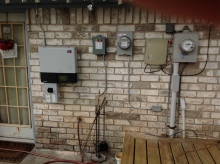 Exterior Rated and mounted Inverter and communication module in Lake Jackson Texas