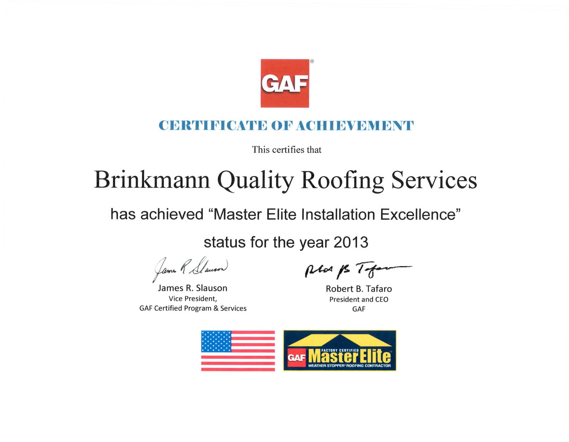 Master Elite Installation Excellence
