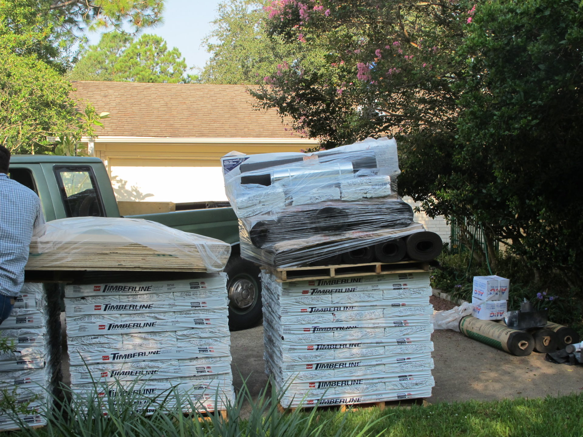 Material Delivery Brinkmann Quality Roofing Services