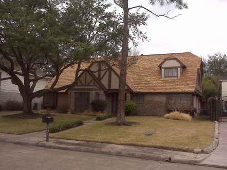 Newly installed Fire treated wood shingles 442x331 Heavy Hand split