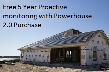 PowerhouseX2.0XSpecial Free 5 year Proactive monitoring on Dow Powerhouse 2.0 Shingle