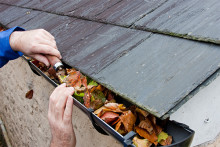 cleangutters 220x147 How to Clean your Gutters and Downspouts
