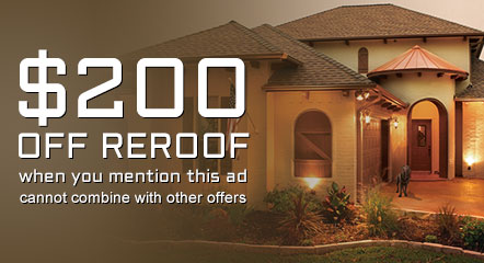 specials reroof $200 off re roof