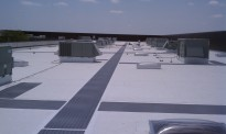 TPO Flat roof with walk pads